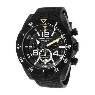 Momo Design Men's Dive Master Black Rubber/Stainless Steel Watch
