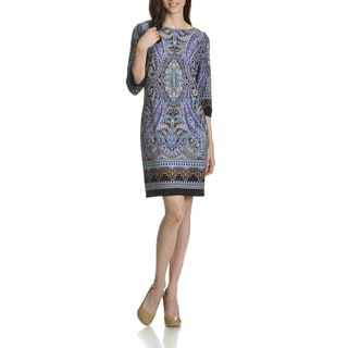 London Times Women's Paisley Print Shift Dress