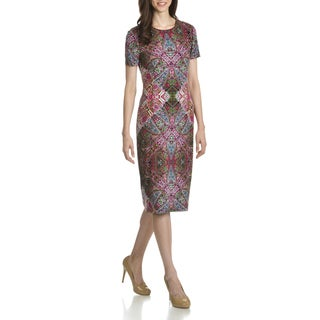 London Times Women's Multicolored Mirror Print Sheath Dress