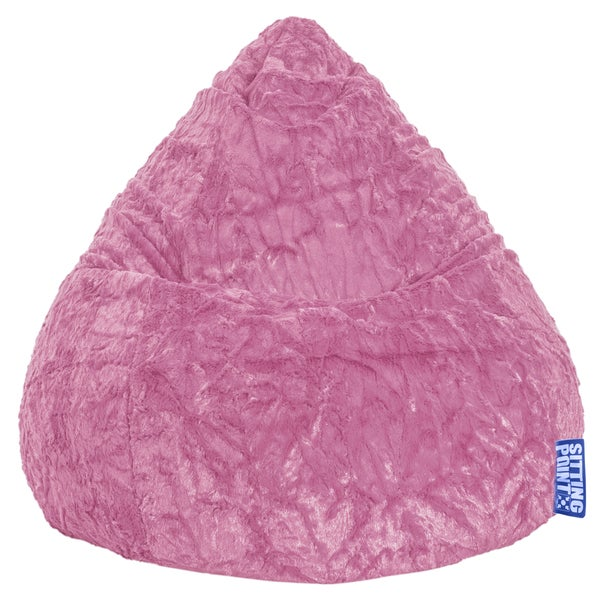 Sitting Point Faux Fur Pink Extra Large Fluffy Bean Bag