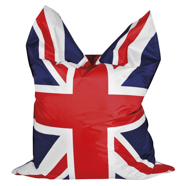 Sitting Point Oxford Fabric with Print Bigbag Brava Union Jack Extra Large Bean Bag