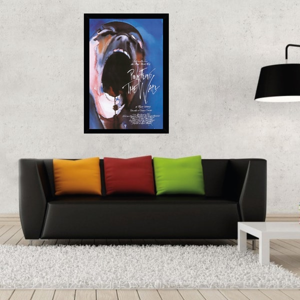 Roger Waters 'Pink Floyd The Wall' Print in Contemporary Poster Frame