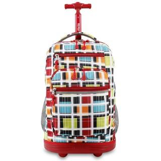 J World Sundance Color Stripe Rolling Laptop Backpack