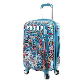 J World Jota Multicolor Polycarbonate 21-inch Fashion Hardside Carry-on Spinner Upright Suitcase