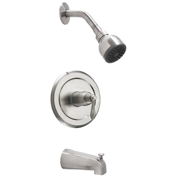 Fontaine Brushed Nickel Tub and Shower Faucet with Valve