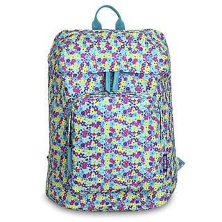 J World Eve Multicolor Polyester Floral Laptop Backpack