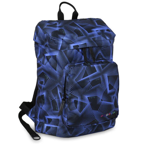 J World Eve Disco Blue Polyester Laptop Backpack