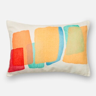 Screen Printed Multi Color Mod Feather and Down Filled or Polyester Filled 13 x 21 Lumbar Throw Pillow or Pillow Cover