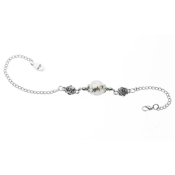 Silvertone Dandelion Wish Bracelet