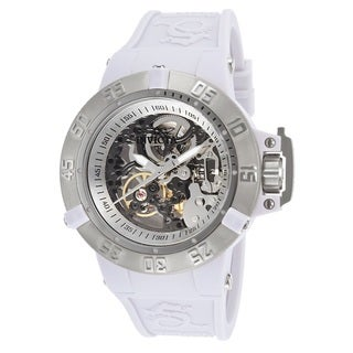 Invicta Women's Subaqua White Silicone/Stainless Steel Analog Display Mechanical Hand-wind Watch