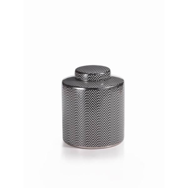 Chevron Lidded Jar Medium