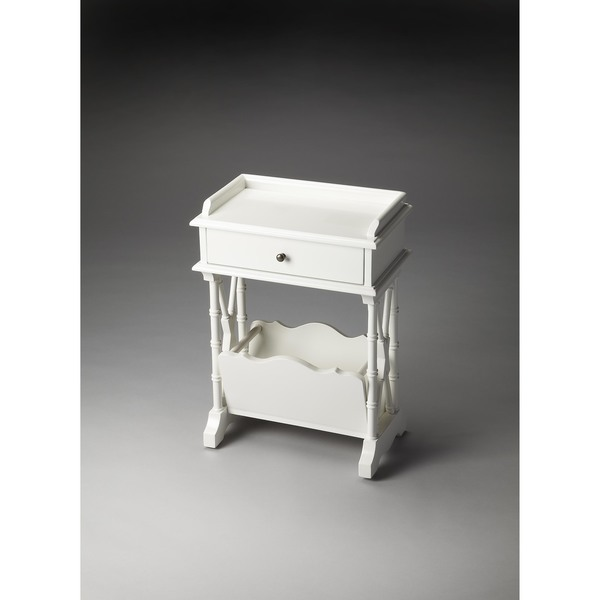 Butler Cummings Glossy White Wood Martini Table