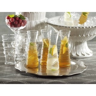 Assorted Design Individual Carafe Glass (Set of 6)