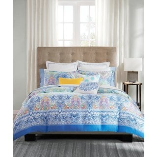 Echo Design Painted Paisley Cotton Duvet Cover Mini Set