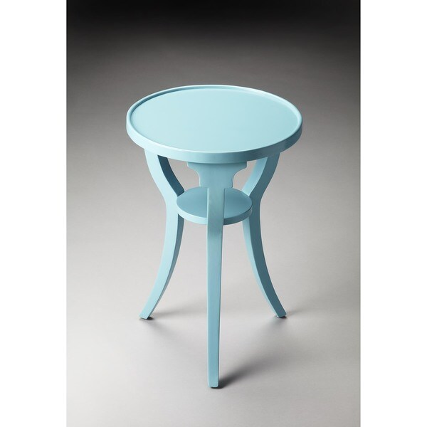 Butler Dalton Sky Blue Round Accent Table
