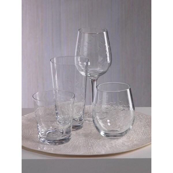 Coral Beach Design Hi- Ball Glass (Set of 8)