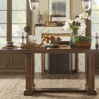 TRIBECCA HOME Harper Warm Cherry Wine Testing Extending Counter Height Table