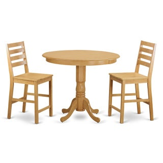 solid wood 3 piece counter height table and chair set 18932795