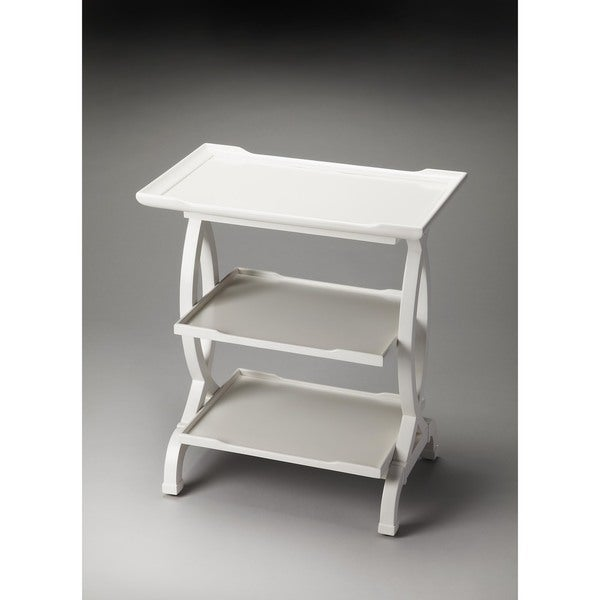 Butler Kimiko Glossy White Wood Side Table