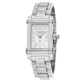 Charriol Women's CCSTRD9102018 ''Columbus' Silver Dial Swiss Quartz Watch with Stainless Steel Braclet