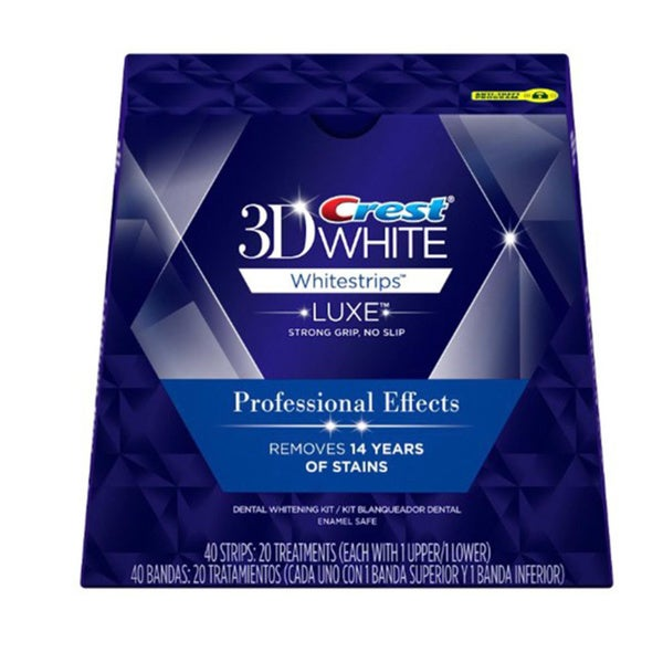 Crest 3D White Luxe Whitestrips Professional Effects Teeth Whitening Kit (20 Treatments)