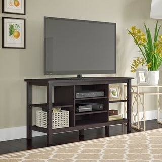Bush Furniture Broadview Espresso Oak TV Stand for TVs up to 55 inches
