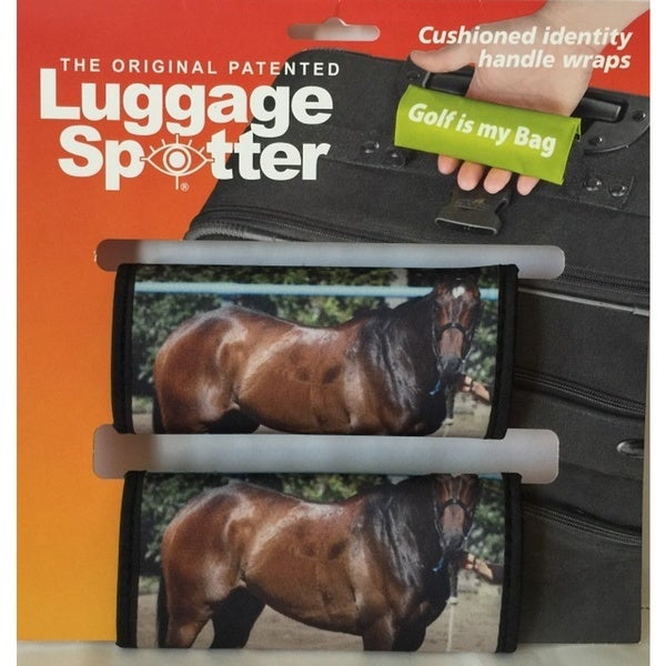 Luggage Spotter Multicolor Neoprene Horse Luggage Handle Grips (Set of 2)