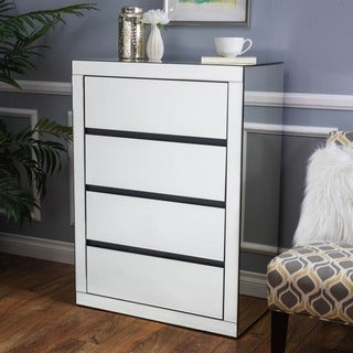 Christopher Knight Home Lada Hardwood 3-drawer Mirrored Cabinet