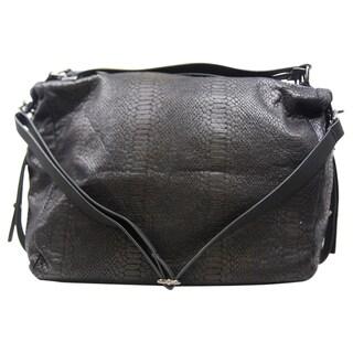 BCBGeneration Brie Black Convertible Hobo Handbag