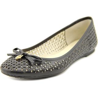 Michael Kors Women's Olivia Casual Black Leather Flat Shoes