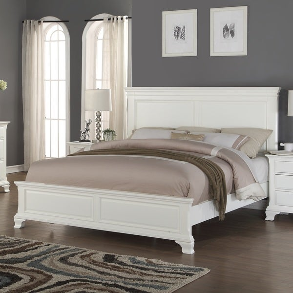 Laveno White Wood Queen Bed