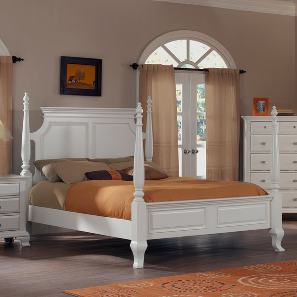 Laveno 012 White Wood King Poster Bed
