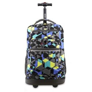 J World Sundance Cubes Rolling Laptop Backpack