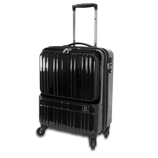 J World Cue Polycarbonate 18-inch Carry On Upright Spinner Suitcase