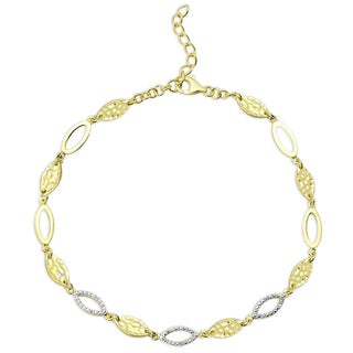Finesque Gold Over Sterling Silver Diamond Accent Bracelet