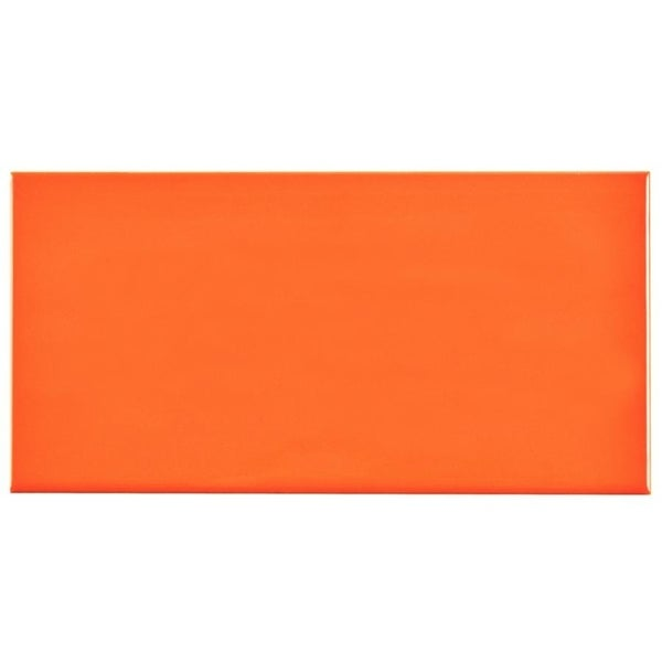 SomerTile 3x6-inch Malda Subway Glossy Tangerine Orange Ceramic Wall Tile (136 tiles/17 sqft.) 19324761