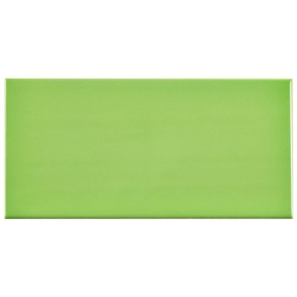 SomerTile 3x6-inch Malda Subway Glossy Kiwi Green Ceramic Wall Tile (136 tiles/17 sqft.) 19324764