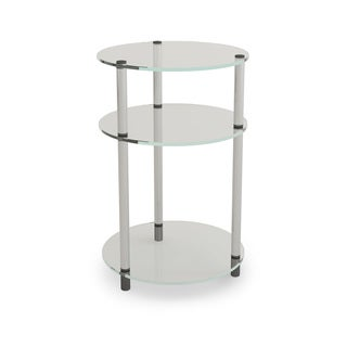 Convenience Concepts Designs2Go Classic Glass 3-tier Round Table