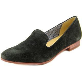 Sebago Women's Hutton Smoking Flat Regular Black Suede Shoes