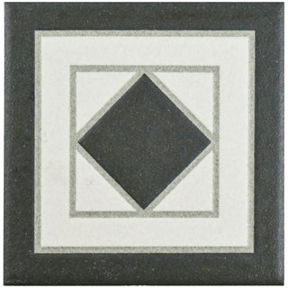 SomerTile 4.25x4.25-inch Narcissus Blanco Porcelain Corner Trim Tile