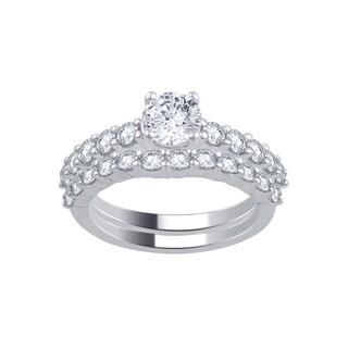 Divina 14k White Gold 2.5ct TDW IGL Certified Diamond Bridal Set (H-I, I2-I3)