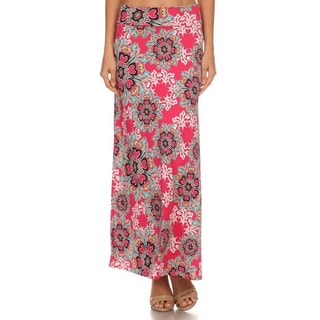MOA Collection Women's Floral Maxi Skirt