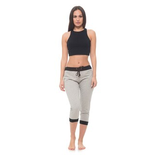 Jogger Capri with Contrast Trim and Pockets