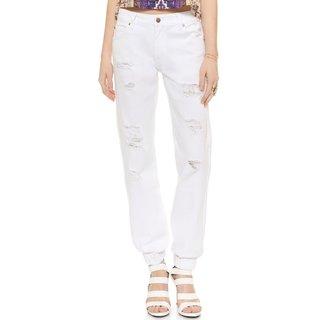 Minkpink Coconutty White Boyfriend Jeans