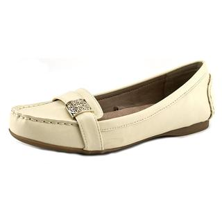 Giani Bernini Women's Blyman Off-white Faux-leather Flat Casual Shoes