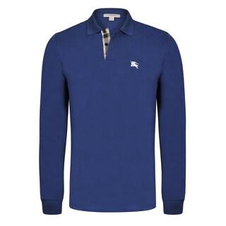 Men's Burberry Long Sleeve Polo Shirt