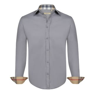 Burberry Men's Grey Dress Shirt