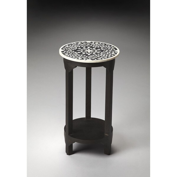 Butler Carmella Black Bone Inlay Accent Table
