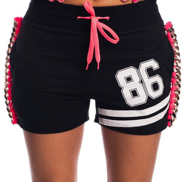 Special One Women's Active Shorts with Drawstring and Embossed Print