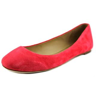 Via Spiga Women's Pink Suede Flat Casual Shoes